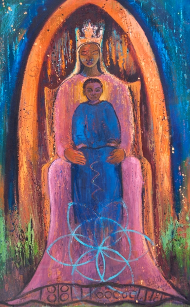 My Black Madonna painting by Judith Shaw
