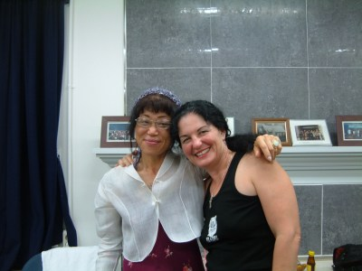(l-r) Inhui Lee and Marie Cartier, International Women's Conference, Seoul, Korea, 2009