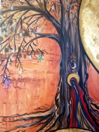 jassy Panagia in tree