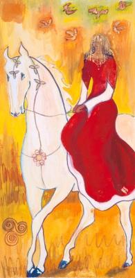 Rhiannon painting by Judith Shaw