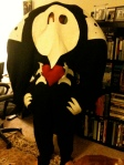 Sachiel from Neon Genesis Evangelion: I am trying on my almost finished costume here!