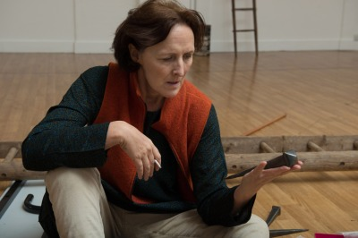 Fiona Shaw rehearses for her role as the Virgin Mary in The Testament of Mary. Irish novelist Colm Toibin's one-woman play opens April 22 at Broadway's Walter Kerr Theater.