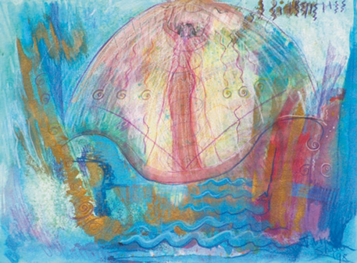 Inanna and the gifts painting by judith shaw