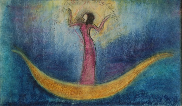 Inanna painting by judith shaw