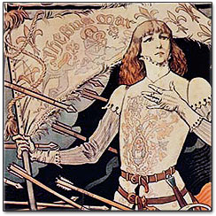 Joan of Arc carried a sacred banner into battle against the English that displayed this symbol, the over riding story of oppression and victory coming through made much more sense.