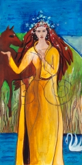 Aine, Summer Goddess painting by Judith Shaw