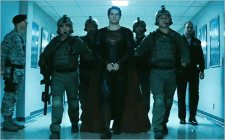 Superman surrenders himself to the US Military, who will turn him over to General Zod