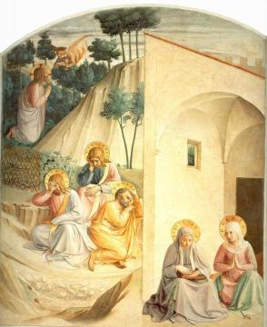 Fra Angelico. Agony in the Garden. c.1450. Museo di San Marco, Cell 34, Florence, Italy.
