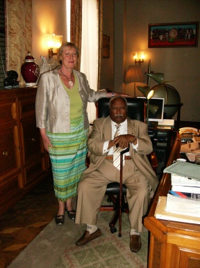 Annette with Pres. Girma in his office