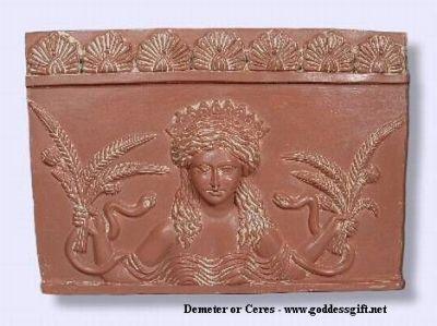 Goddess Ceres-Demeter Plaq