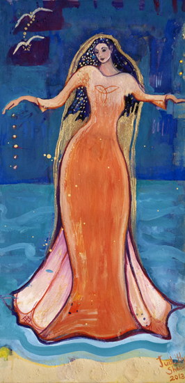Fand, Celtic Sea Goddess painting by Judith Shaw