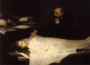 """Gabriel von Max's """"Der Anatom"""""""