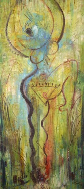Aphrodite Dancing painting by Judith Shaw