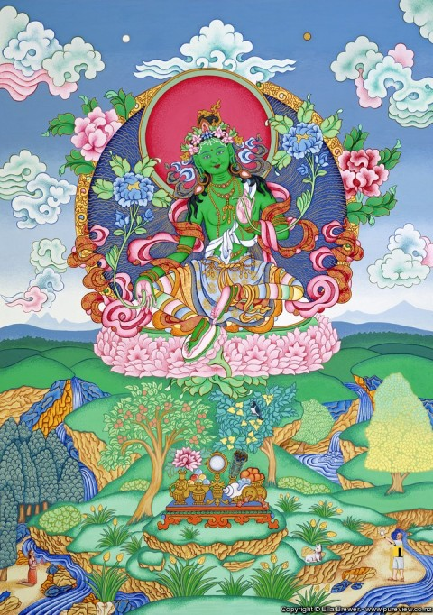 Green Tara. Image courtesy of the artist, Ella Brewer.