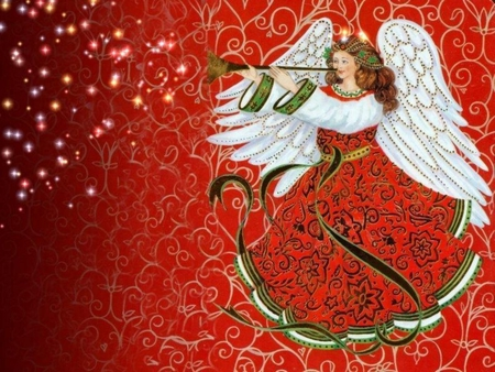 Of birds angels and tidings of great joy by carol p christ for Christmas angels