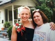 My mom with me right before I left for junior prom.