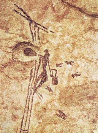prehistoric bee gathering