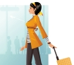 woman business traveler