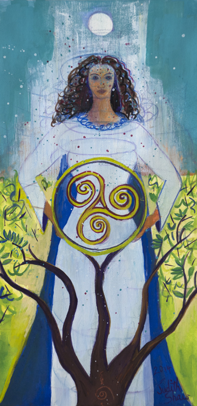 Danu, Celtic Mother Goddess, painting by Judith Shaw
