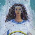 Danu, Celtic Goddess painting by Judith Shaw