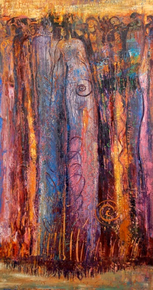 Ancestral Gathering I,paining by Judith Shaw