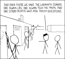 """""""Labyrinth Puzzle"""" by xkcd, sourced from https://xkcd.com/246/"""