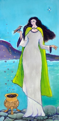 Branwen, Celtic Goddess painting my Judith Shaw