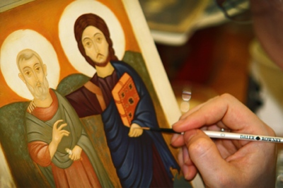 Icon Painting - a direct communion with the divine.