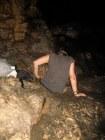 cave woman climbing