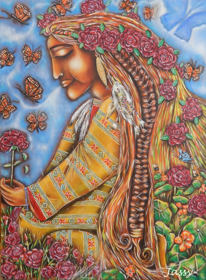 Pachamama - by Jassy Watson Acrylic on canvas