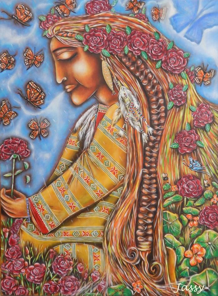 Pachamama - by Jassy Watson Acrylic on canvas