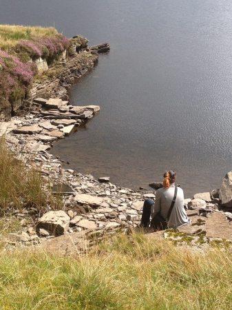 Kate Brunner at Llyn Morwynion