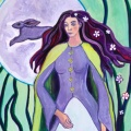 cerridwen, celtic goddess painting by Judith Shaw