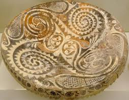 crete kamares ware bowl with spirals