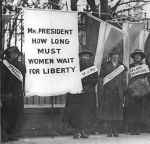 """White House Demonstration,"" Image sourced from: http://www.vintageperiods.com/suffrage.php, accessed Nov. 2014"