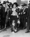 Komako Kimura, Japanese Sufragist, at women's right to vote march, Oct. 1917, New York City  Image sourced from: http://www.pinterest.com/historybyzim/women-s-suffrage-movement/, Accessed Nov. 2014