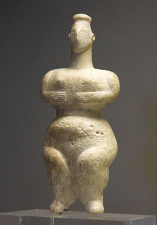 Ancient Old-European goddess figurine from southeastern Greece