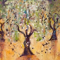 Dance of the Olive Grove,painting by Judith Shaw