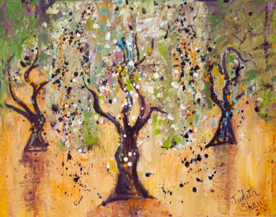 Dance of the Olive Grove, painting by Judith Shaw