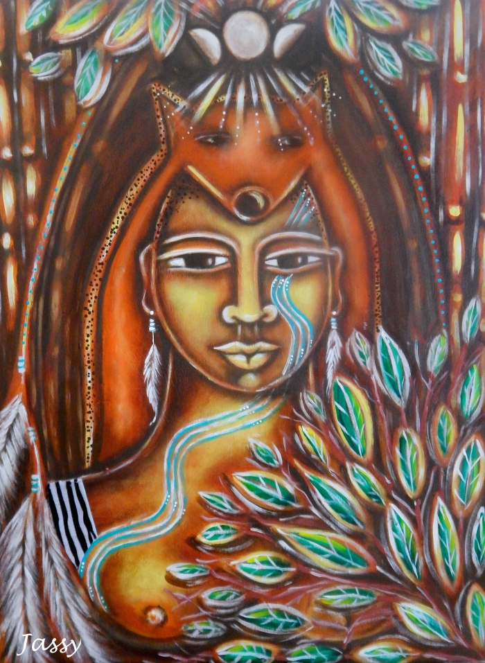 Shaman Woman - Connected to the cycles of life, the 'river beneath the river' runs through her body.