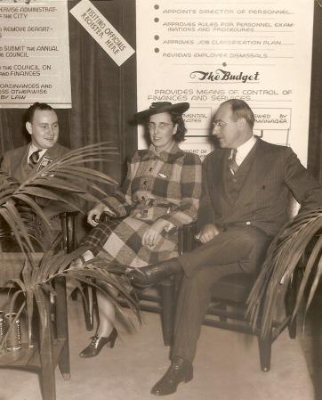 Edith Bergman with the Mayor of Kansas City