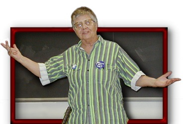 Mary Daly at NWSA, 2000. photo: Joy F. Morrison