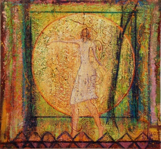 Charmed Circle of Goddess Love, painting by Judith Shaw