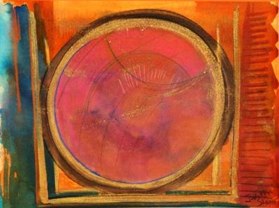 Dawn Mandala painting by Judith Shaw