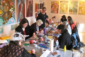 Women at herchurch create images of the Divine Feminine