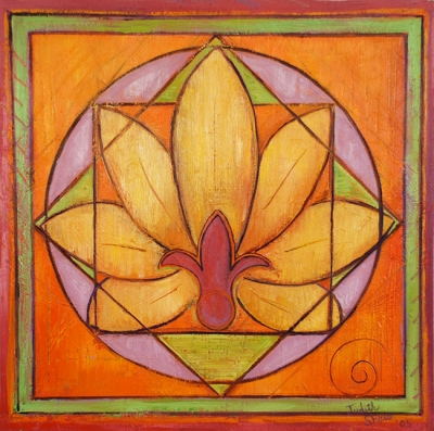 Lotus Mandala 1 , painting by Judith Shaw