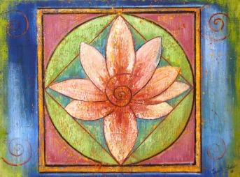 Lotus Mandala 2, painting by Judith Shaw