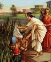 Pharaoh's Daughter Finds Moses Exodus 2:3-6