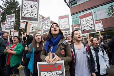 Protests at Seattle University, click here for image source.