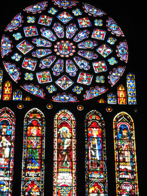chartres rose window